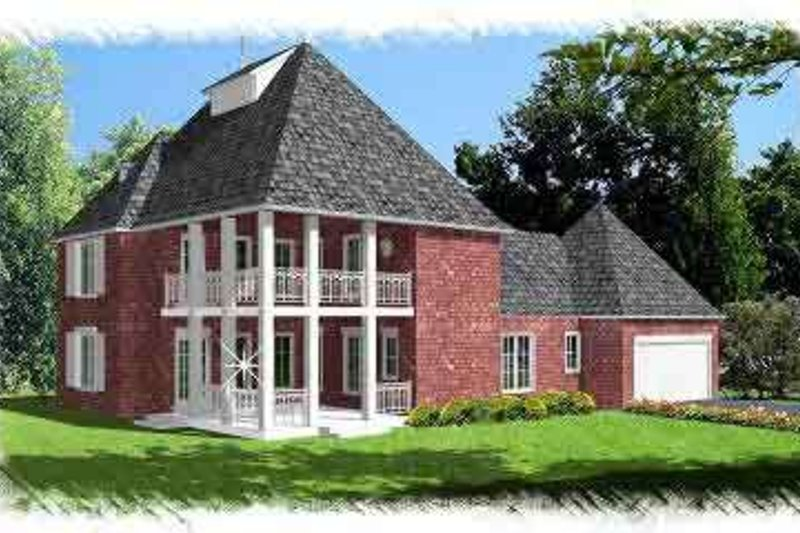 Southern Exterior - Front Elevation Plan #15-270