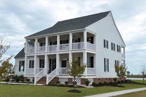 Colonial Exterior - Front Elevation Plan #137-145
