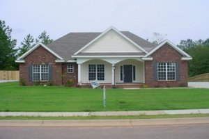 Southern Exterior - Front Elevation Plan #69-153