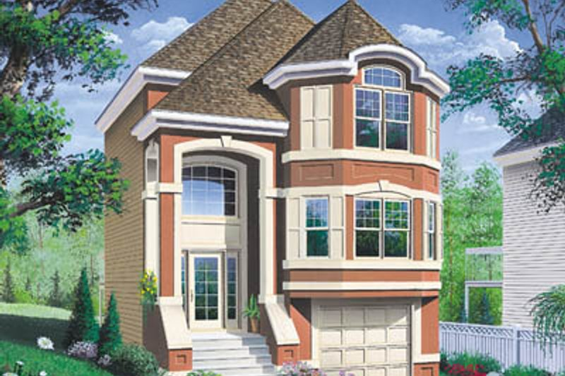European Exterior - Front Elevation Plan #23-312 - Houseplans.com