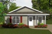 Ranch Style House Plan - 2 Beds 1 Baths 736 Sq/Ft Plan #14-237 Exterior - Front Elevation