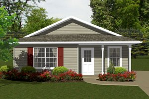 Architectural House Design - Ranch Exterior - Front Elevation Plan #14-237