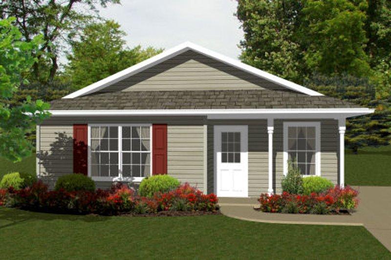 Ranch Exterior - Front Elevation Plan #14-237 - Houseplans.com
