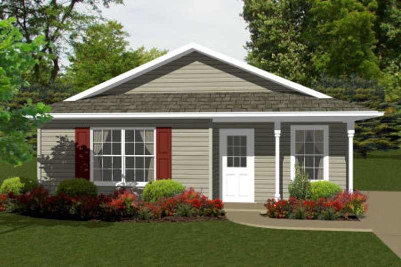 Ranch Exterior - Front Elevation Plan #14-237