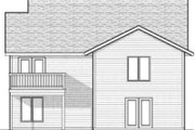 Traditional Style House Plan - 2 Beds 1.5 Baths 1334 Sq/Ft Plan #70-591 Exterior - Rear Elevation