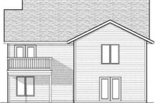 House Design - Traditional Exterior - Rear Elevation Plan #70-591