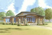 Modern Style House Plan - 3 Beds 2.5 Baths 2272 Sq/Ft Plan #17-2591 Exterior - Front Elevation