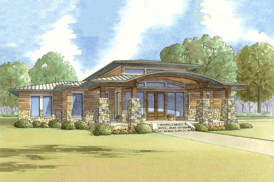 Modern Exterior - Front Elevation Plan #17-2591