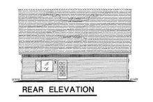 House Plan Design - Bungalow Exterior - Rear Elevation Plan #18-4520