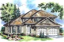 House Blueprint - Traditional Exterior - Front Elevation Plan #18-254