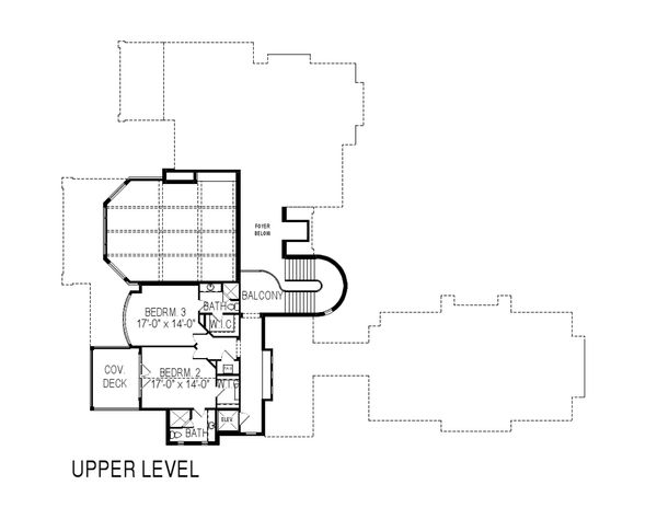 European Floor Plan - Upper Floor Plan Plan #920-62