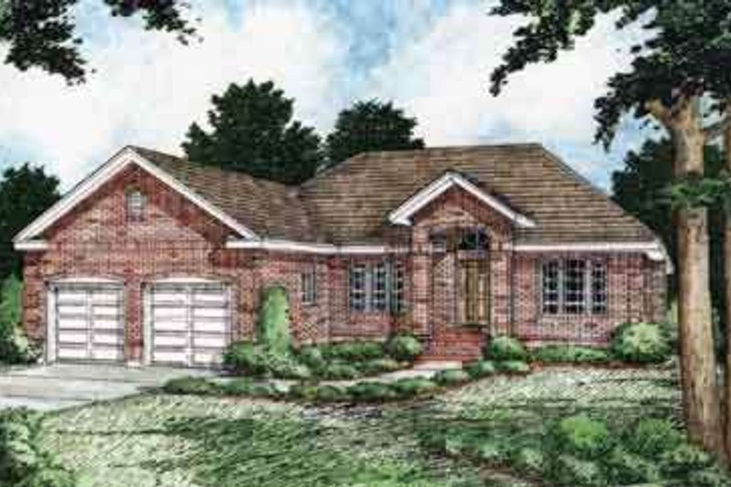 Traditional Exterior - Front Elevation Plan #126-137 - Houseplans.com