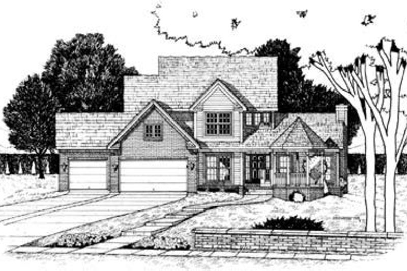 Farmhouse Exterior - Front Elevation Plan #20-856