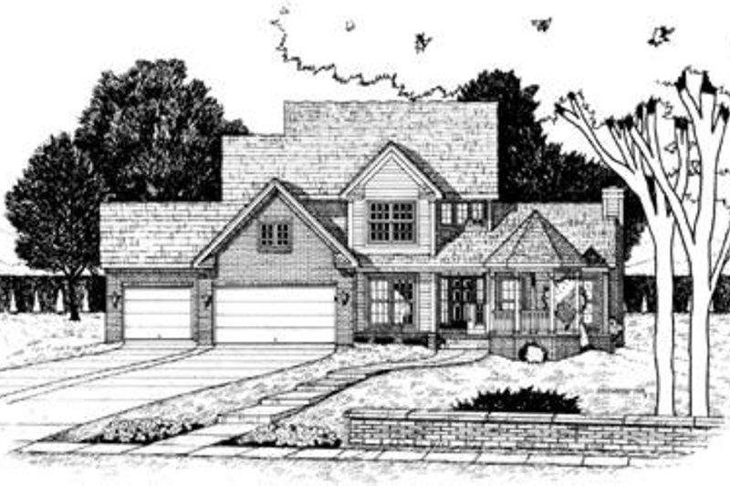 Farmhouse Exterior - Front Elevation Plan #20-856 - Houseplans.com
