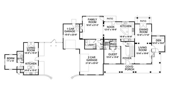 Traditional Floor Plan - Main Floor Plan Plan #490-1