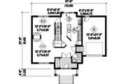 Traditional Style House Plan - 3 Beds 1 Baths 1542 Sq/Ft Plan #25-4579 Floor Plan - Main Floor Plan