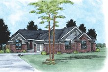 Home Plan Design - Traditional Exterior - Front Elevation Plan #20-614