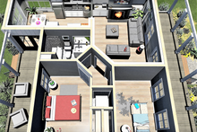 Traditional Interior - Other Plan #44-223