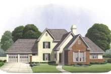 Tudor Exterior - Front Elevation Plan #410-243
