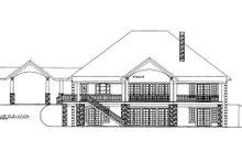 Dream House Plan - European Exterior - Rear Elevation Plan #117-614