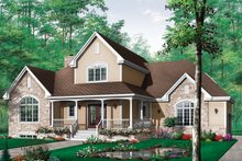 Dream House Plan - Canadian house traditional style  craftsman home elevation