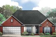 Traditional Style House Plan - 3 Beds 2 Baths 1625 Sq/Ft Plan #21-189 Exterior - Front Elevation