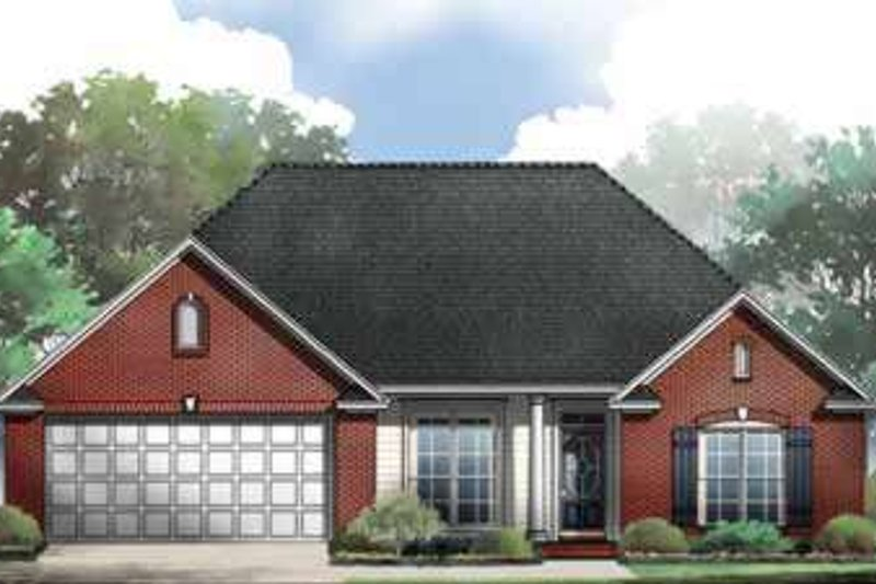 Traditional Exterior - Front Elevation Plan #21-189 - Houseplans.com