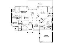 Mediterranean Floor Plan - Main Floor Plan Plan #124-429