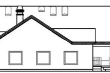 House Plan Design - Ranch Exterior - Rear Elevation Plan #60-292