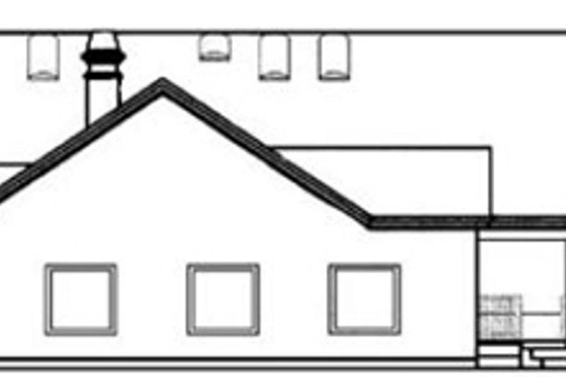 Ranch Exterior - Rear Elevation Plan #60-292 - Houseplans.com