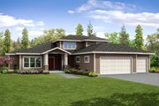 Contemporary Style House Plan - 4 Beds 3.5 Baths 3491 Sq/Ft Plan #124-1045 Exterior - Front Elevation