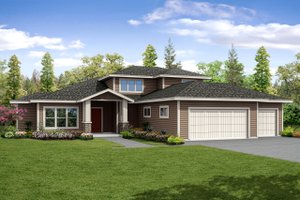Contemporary Exterior - Front Elevation Plan #124-1045