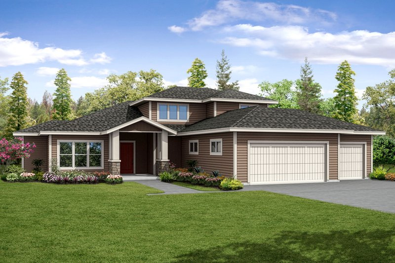 Home Plan - Contemporary Exterior - Front Elevation Plan #124-1045
