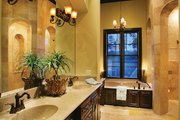 Mediterranean Style House Plan - 4 Beds 5 Baths 3031 Sq/Ft Plan #930-22 Interior - Master Bathroom
