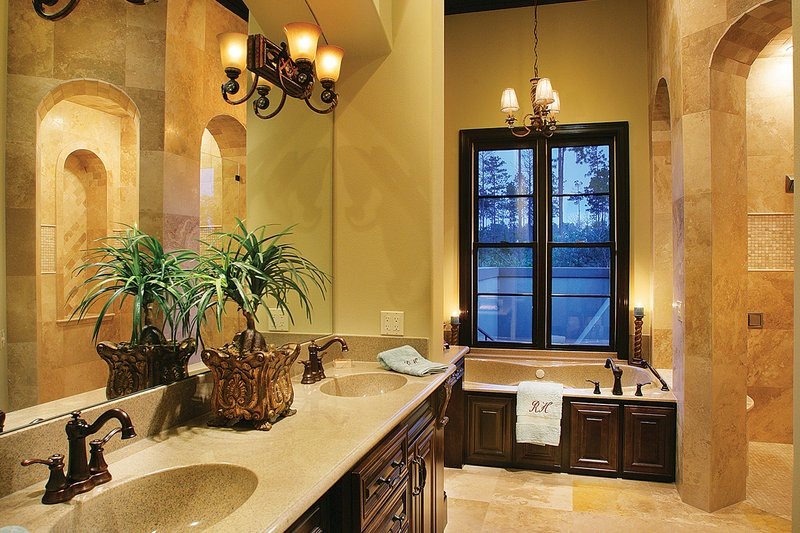 Mediterranean Interior - Master Bathroom Plan #930-22 - Houseplans.com