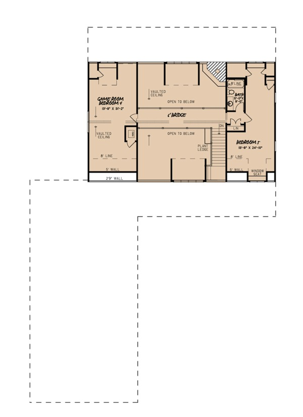 Farmhouse Floor Plan - Upper Floor Plan Plan #923-104