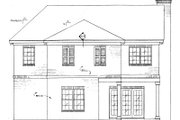 European Style House Plan - 3 Beds 2.5 Baths 1933 Sq/Ft Plan #37-166 Exterior - Rear Elevation