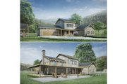 Modern Style House Plan - 3 Beds 2.5 Baths 2754 Sq/Ft Plan #924-6 Exterior - Other Elevation