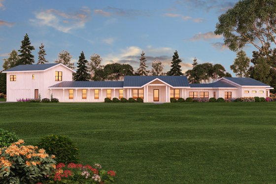 Ranch Exterior - Front Elevation Plan #888-11