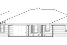Prairie Exterior - Rear Elevation Plan #124-873