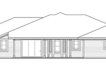 Home Plan - Prairie Exterior - Rear Elevation Plan #124-873