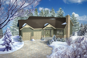 Country Style House Plan - 2 Beds 2 Baths 1553 Sq/Ft Plan #25-4657 Exterior - Front Elevation