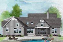 Architectural House Design - Craftsman Exterior - Rear Elevation Plan #929-1123