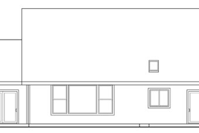 Traditional Exterior - Rear Elevation Plan #124-347 - Houseplans.com