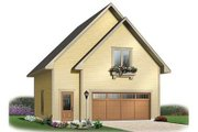 Traditional Style House Plan - 1 Beds 1 Baths 713 Sq/Ft Plan #23-443 Exterior - Front Elevation
