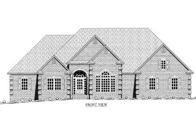 European Exterior - Other Elevation Plan #437-31 - Houseplans.com