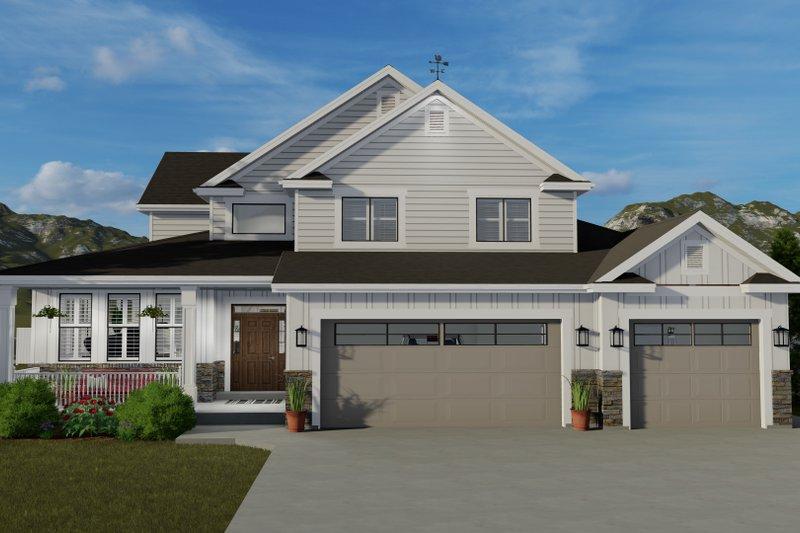 Dream House Plan - Craftsman Exterior - Front Elevation Plan #1060-65