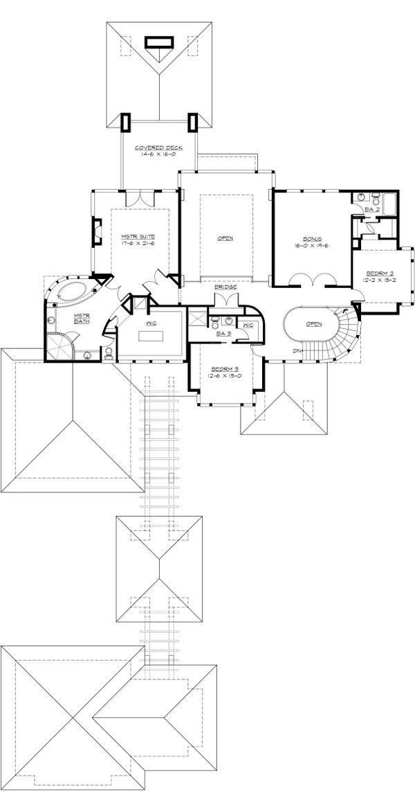 Modern Floor Plan - Upper Floor Plan #132-221