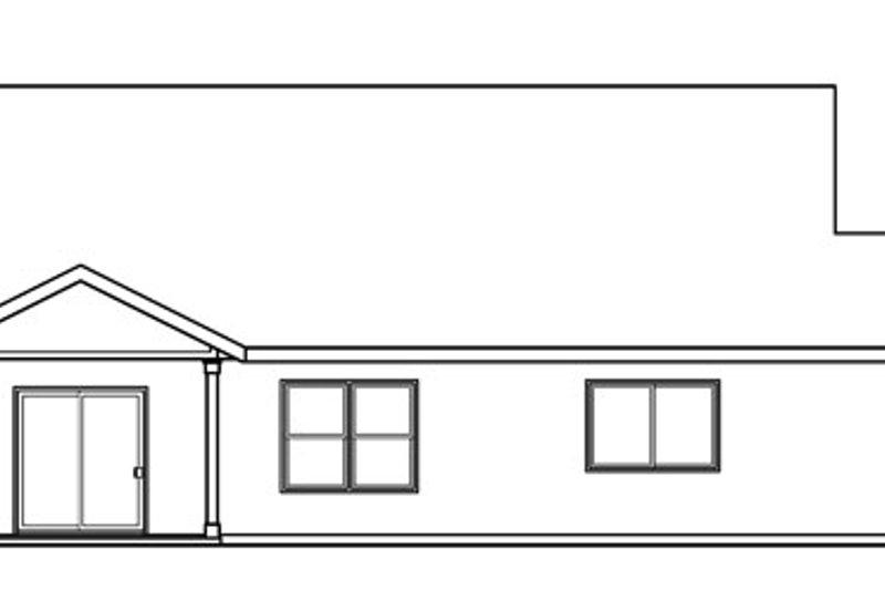 Craftsman Exterior - Rear Elevation Plan #124-781 - Houseplans.com