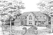 Country Style House Plan - 4 Beds 2.5 Baths 2592 Sq/Ft Plan #456-21 Exterior - Other Elevation